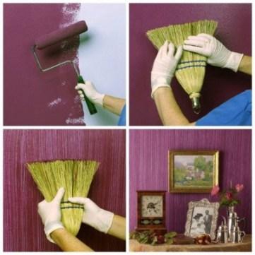 papel de parede pintura DIY