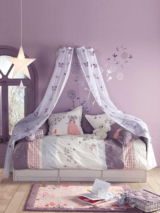 quarto infantil lilas cama