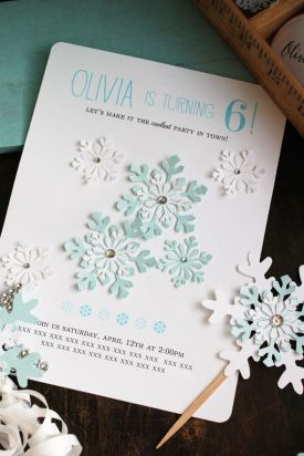 convite frozen floco de neve