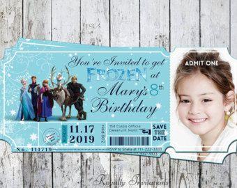 convite frozen ticket