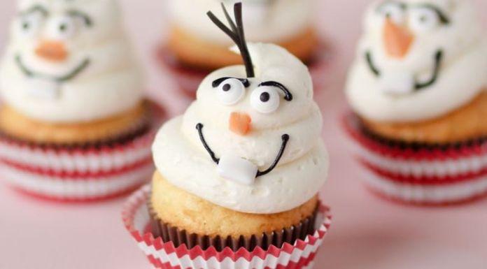 Receita de Cupcake Olaf