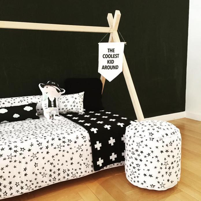 Decoração de quarto infantil moderno e criativo