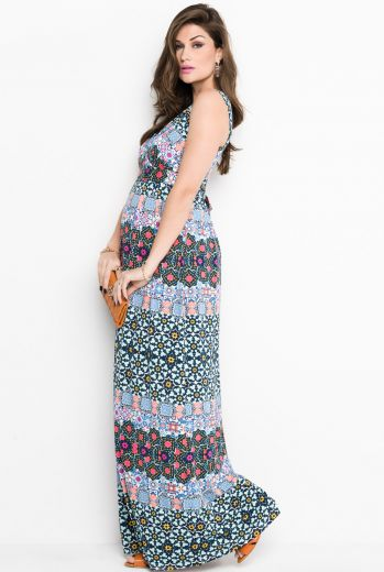 gravidez-vestido-gestante-malha-estampado