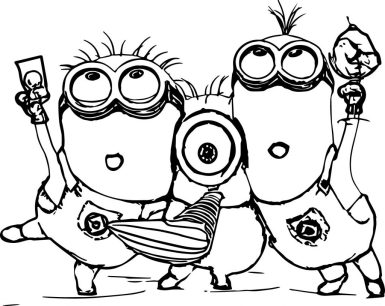 Minions-Coloring-Page