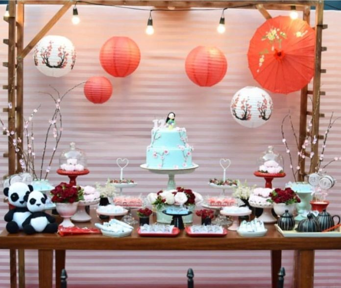 decoração de festa princesa Mulan