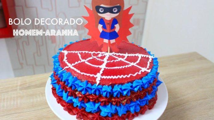bolo do homem aranha para meninas