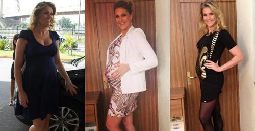 Look das famosas na gravidez