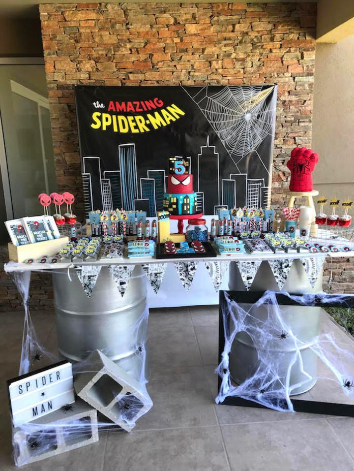 festa infantil Homem-Aranha