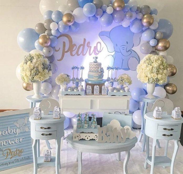 ideias Mesa Principal Chá de Bebê