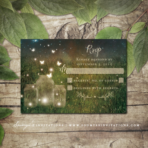 Mysterious Firefly Wedding Invitations Ing041