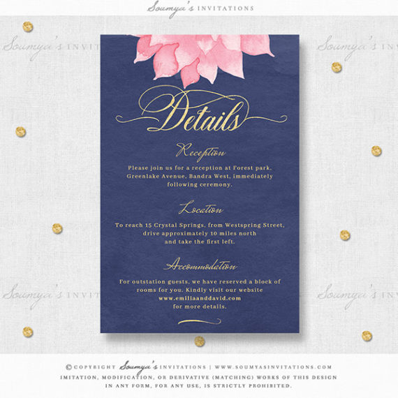 Rustic Pink Wedding Invitations