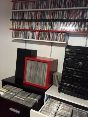 Vue de la collection de disques de Krystophe