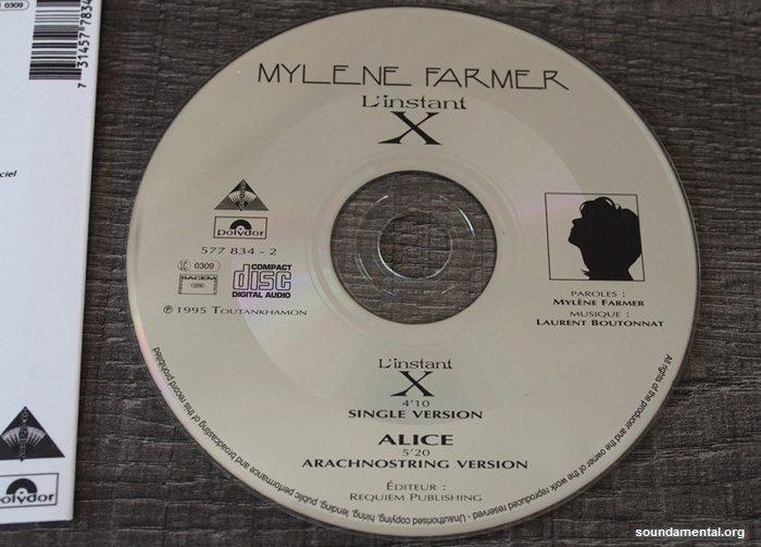 Mylène Farmer - L'instant X (Collector erreur d'impression) - Recto CD