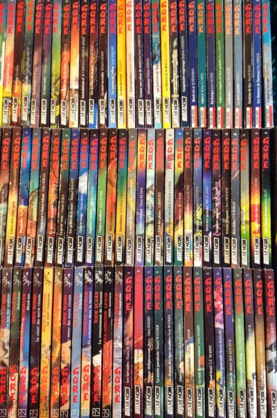 """Aperçu de la collection """"Gore"""" de chez Fleuve Noir (photo trouvée sur eBay)"""