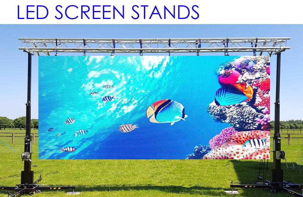 Led screen hire led screens led panels big screen for Exterior led screen