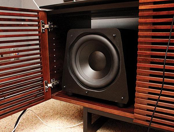 the cabinet the subwoofer sound