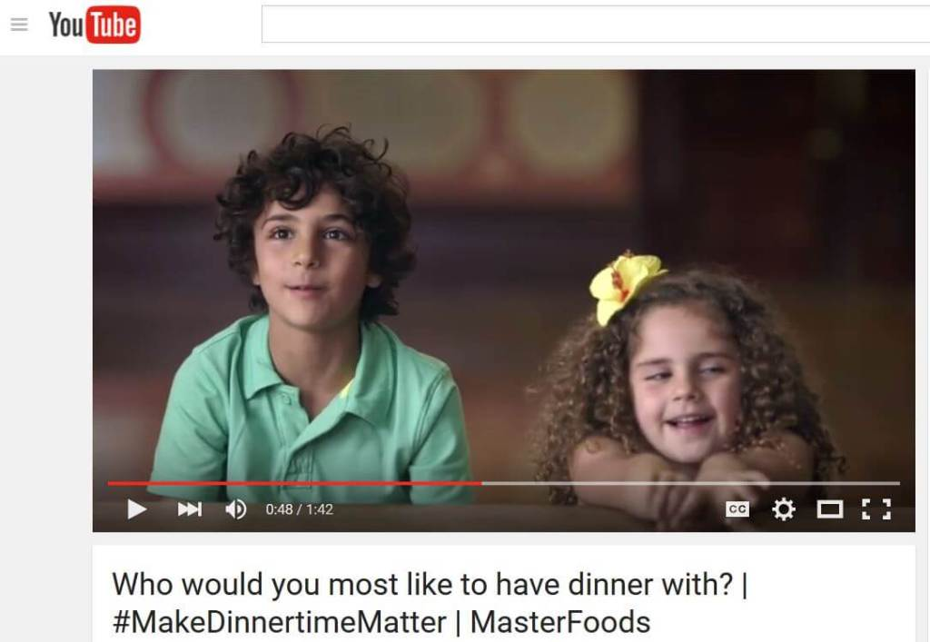 make dinnertime matter video screenshot