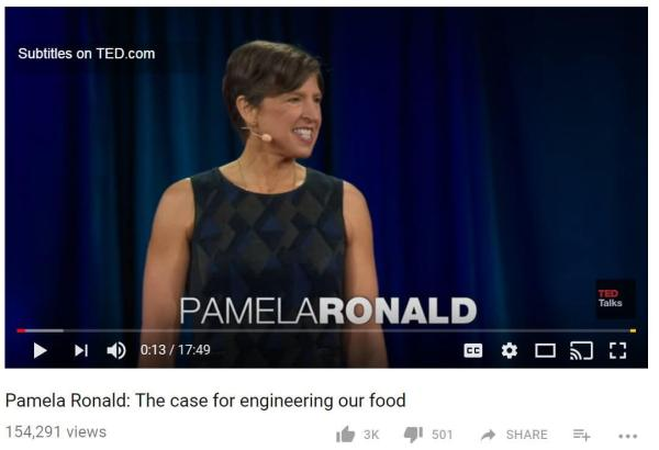 Pamela Ronald TedTalk
