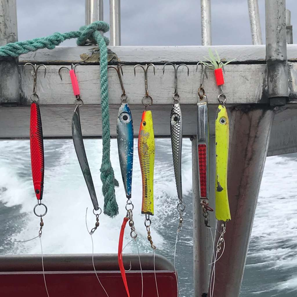 Fish Hooks on our fishing boat