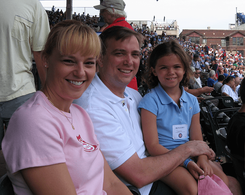 Me, Sarah and Mark at Wrigley Field in 2006