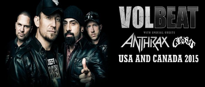 Volbeat with Anthrax and Crobot