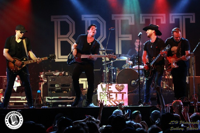 Brett Kissel and the band - Tyler Vollrath, Justin Kudding, Ben Bradley and Matty McKay