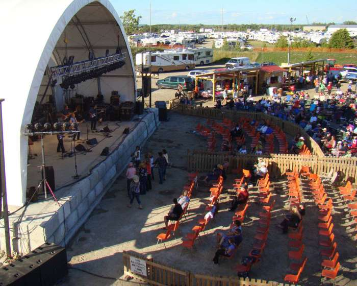 Manitoulin Country Fest stage