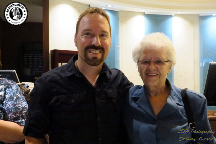 Jason Barry (Nominated for CCMA Guitar Player of the Year and Recording Studio of the Year) with his mom.