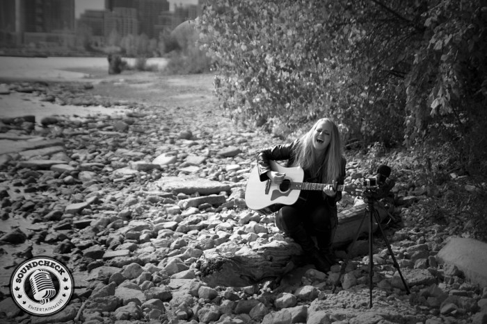 Jessica Mitchell performs for the Mason Jar Sessions on the shores of Lake Ontario