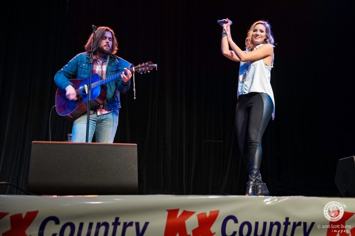 Leah Daniels performs at the Coors Banquet Garth Brooks Pre-show Tailgate Party