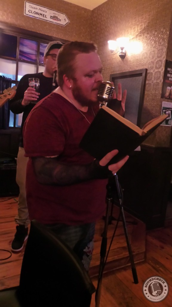 Leigh Bursey of Project Mantra shows off his poetic side