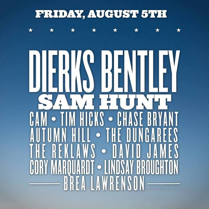 Boots & Hearts Friday Night Lineup
