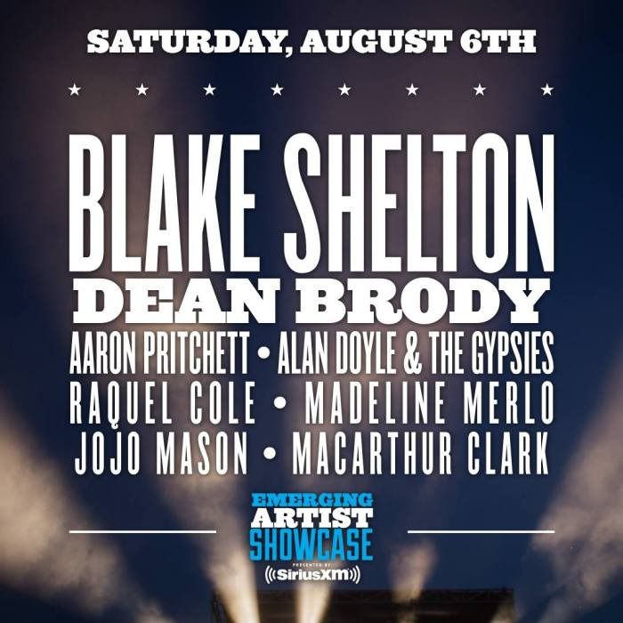 Boots and Hearts Saturday Night Line Up