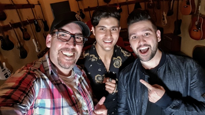 Corey hangin' with Dan + Shay in Toronto