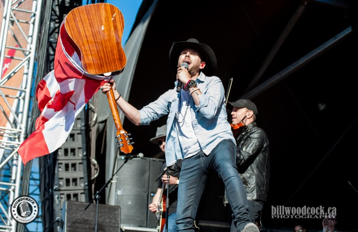 Brett Kissel performs at Trackside Music Festival in London, ONT - Photo: Bill Woodcock