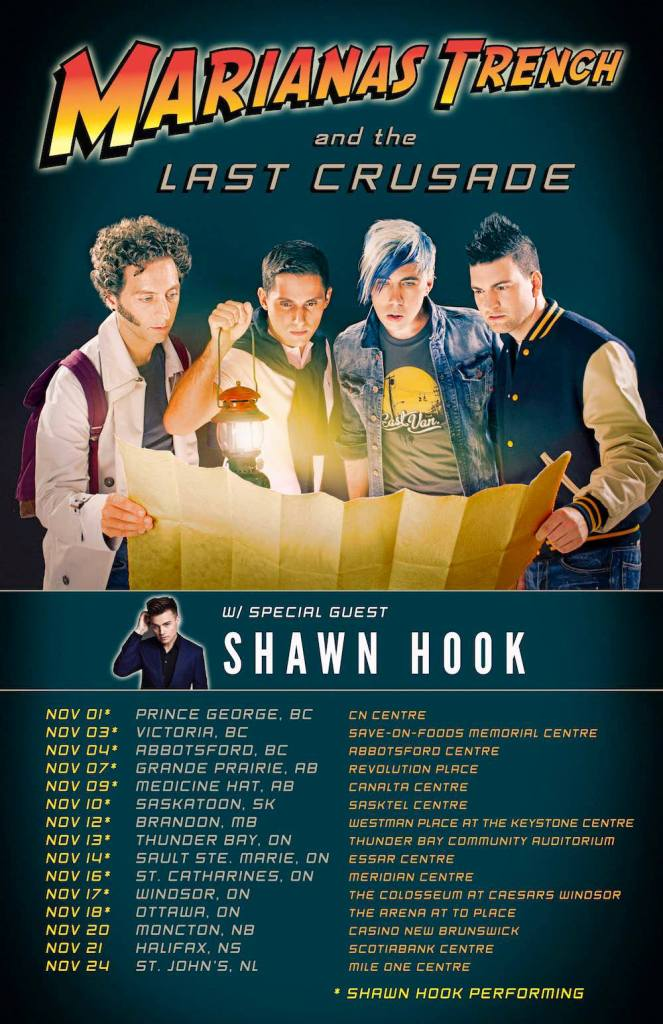 Marianas Trench and the Last Crusade Tour Dates