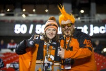 BC Lions fans at the Grey Cup in Ottawa - photo Renee Doiron