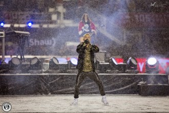 Son Real performs at the Grey Cup Halftime show in Ottawa - photo by Renee Doiron