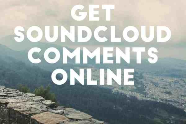 comments online for soundcloud