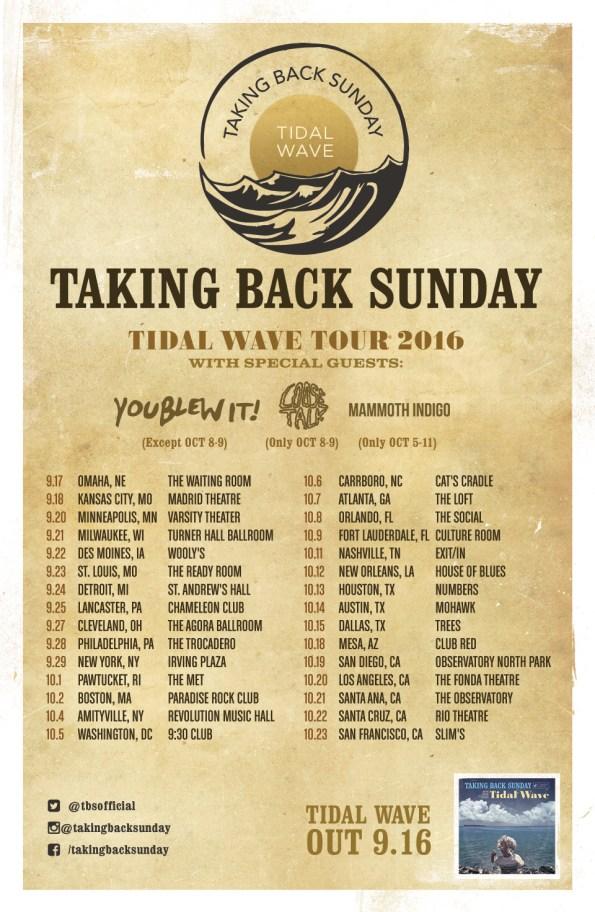 Taking Back Sunday - Tidal Wave Tour (2016)
