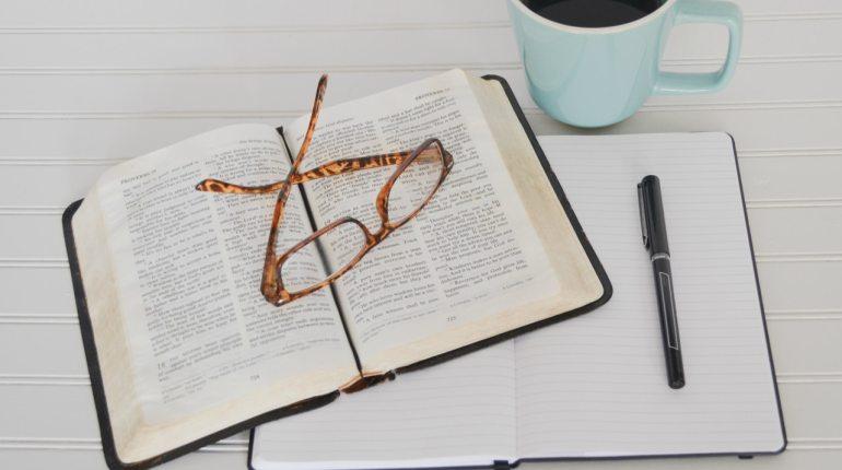 exam, book, study, glasses. coffee
