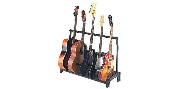 K&M ( ケーアンドエム ) / 17515B Guadian 5 ギタースタンド 5本用