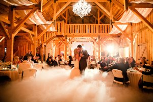 Dancing in the Clouds effect for First Dance in Amador County wedding