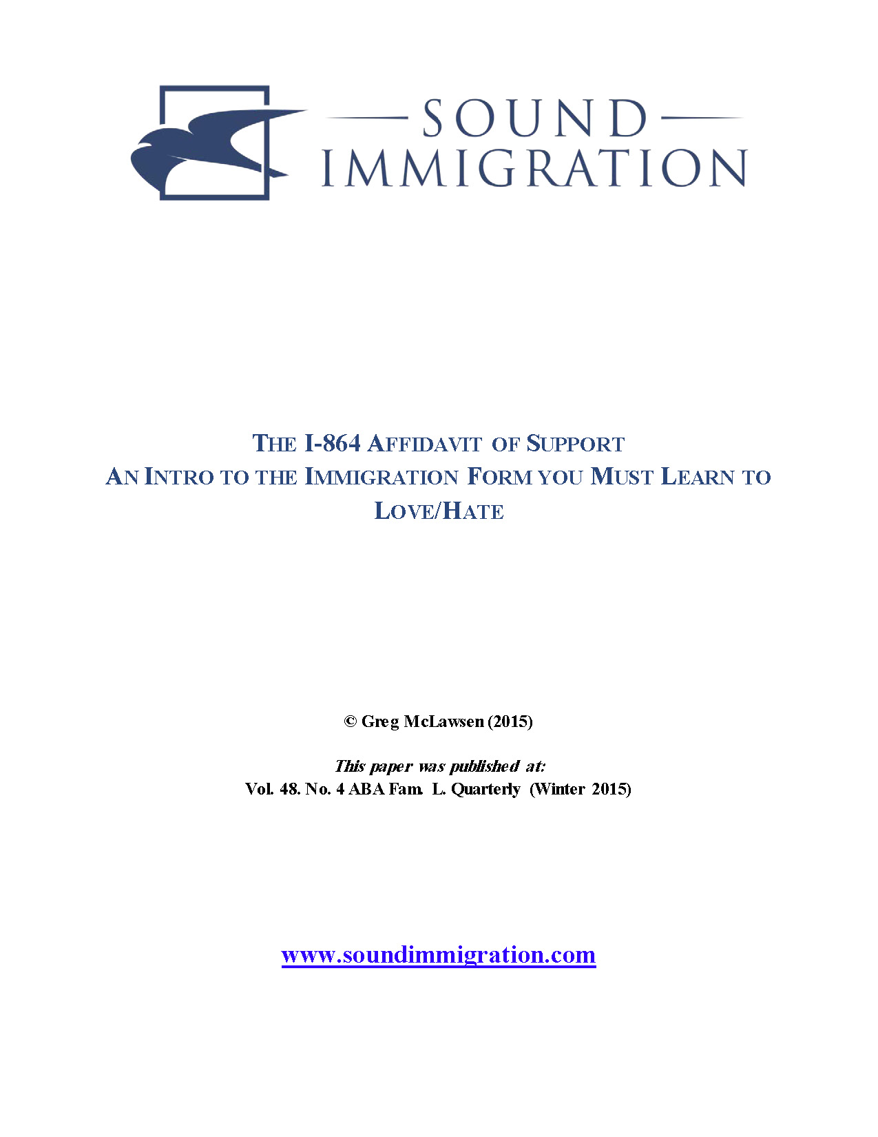 The I-864 Affidavit of Support An Intro to the Immigration Form ...