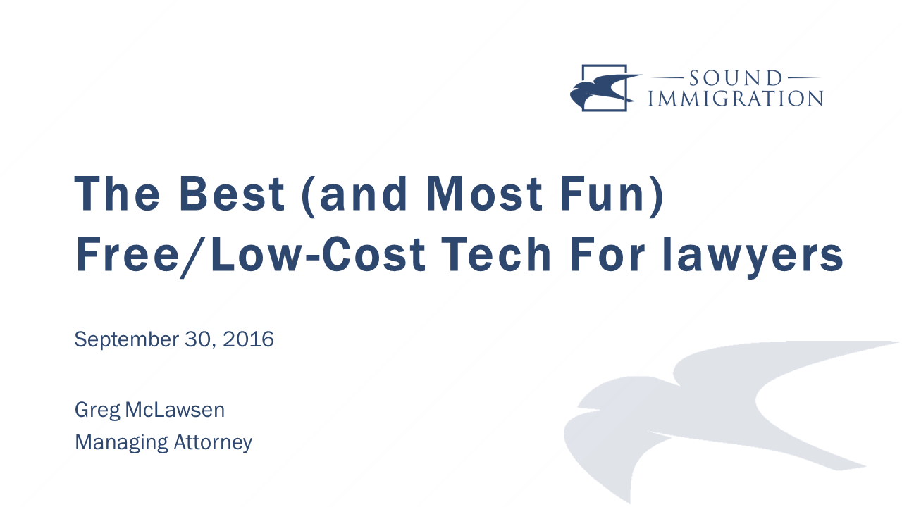 The Best (and Most Fun) Free/low-cost Legal Tech For Lawyers