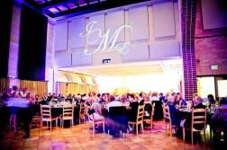 Uplighting & monogram for wedding