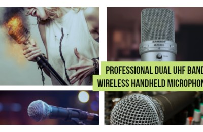 Professional Dual UHF Band Wireless Handheld Microphones