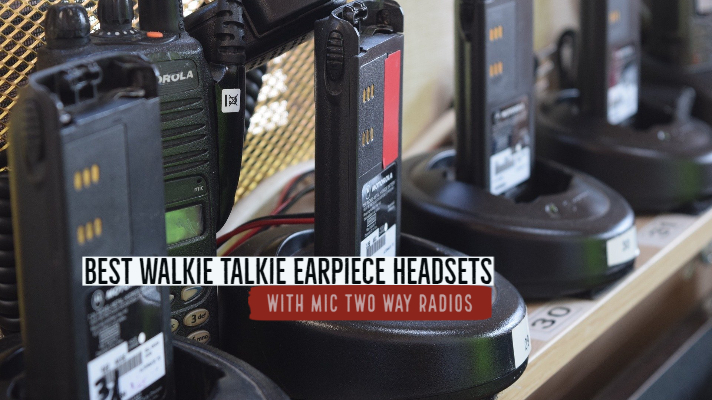 Best Walkie Talkie Earpiece Headset with Mic Two Way Radios