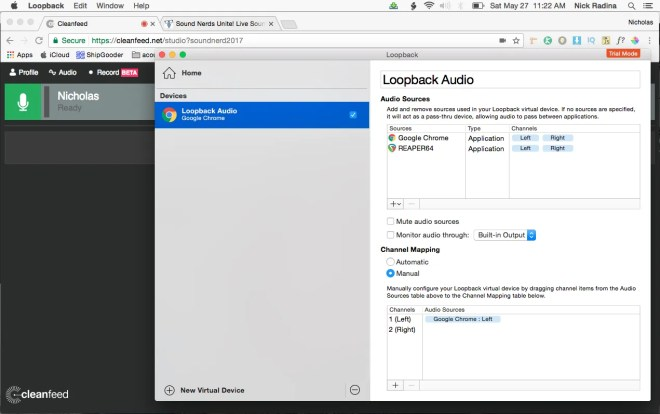 Loopback / Cleanfeed Nicholas Radina
