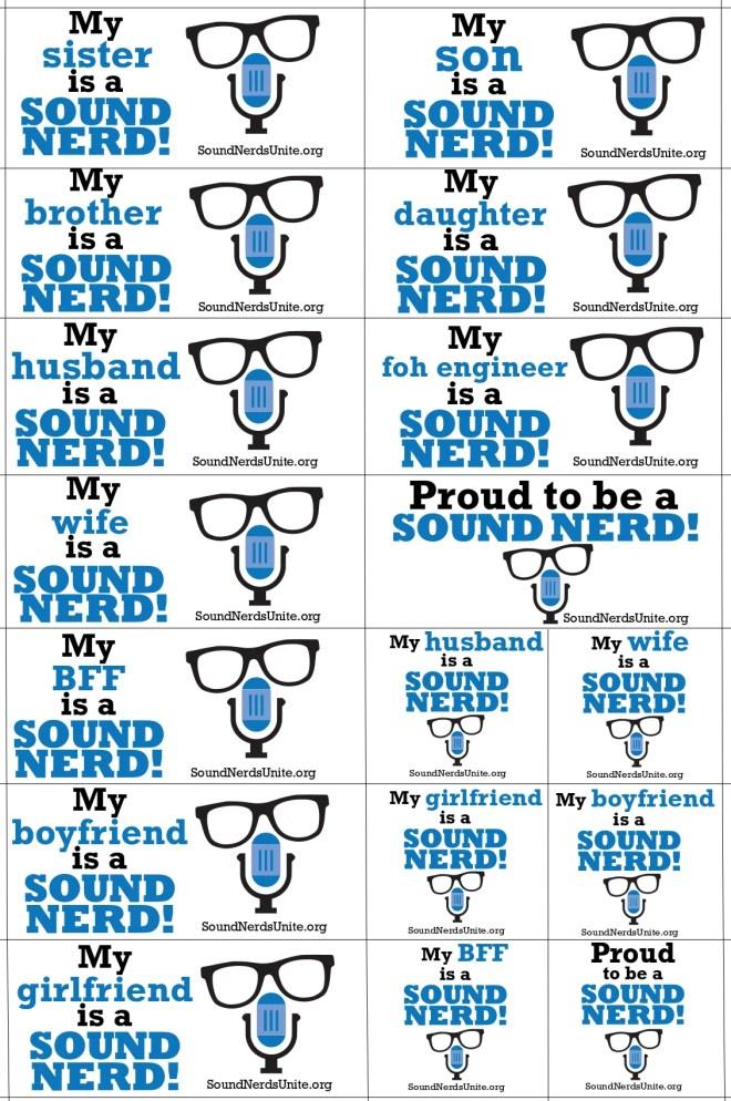 Sound Nerds Unite Stickers